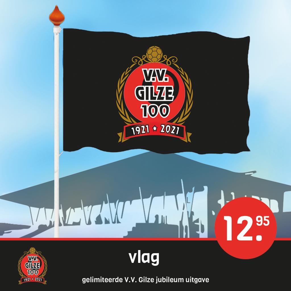 Heel Gilze vlagt op 7 en 8 maart voor 100 jarig VV Gilze