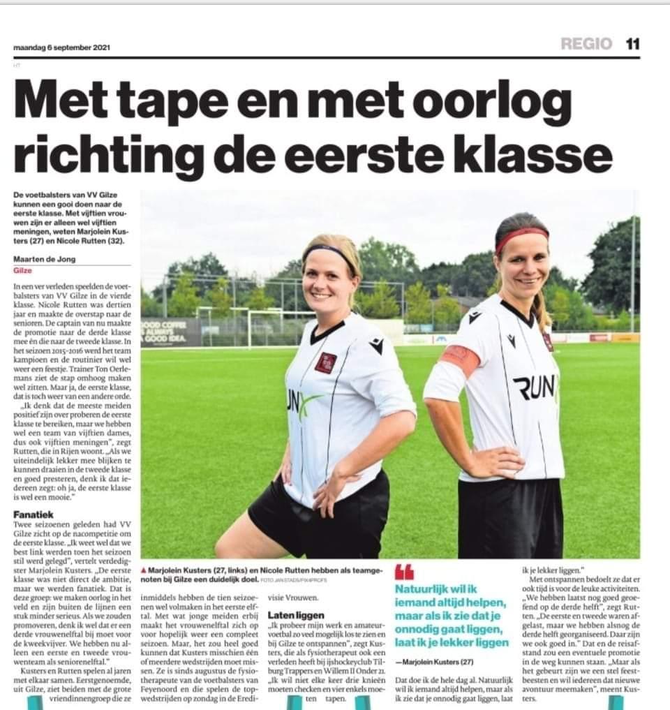 Dames Gilze 1 staan in Brabants Dagblad